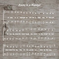 Away in the Manger Sheet Music Fine-Art Print