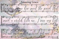 Amazing Grace Lyrics Fine-Art Print
