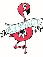 Flamingo Stay Balanced Fine-Art Print