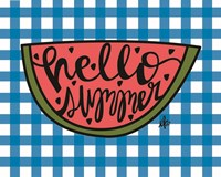 Hello Summer Watermelon Fine-Art Print