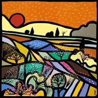 Lavender Fields at Sunset Fine-Art Print