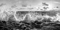 Waves Crashing, Point Reyes, California (detail, BW) Fine-Art Print
