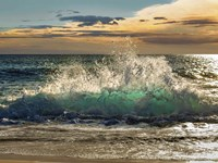 Wave Crashing on the Beach, Kauai Island, Hawaii Fine-Art Print