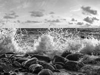 Waves Crashing, Point Reyes, California (BW) Fine-Art Print