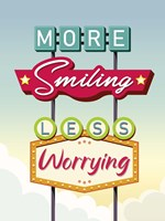 More Smiling Less Worrying Fine-Art Print