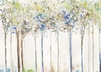 Indigo Ink Trees Fine-Art Print