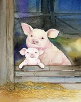 Farm Family Pigs Fine-Art Print