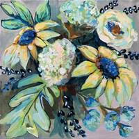 Sage and Sunflowers II Fine-Art Print