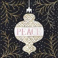 Jolly Holiday Ornaments Peace Metallic Fine-Art Print