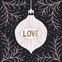 Jolly Holiday Ornaments Love Metallic Fine-Art Print