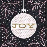 Jolly Holiday Ornaments Joy Metallic Fine-Art Print