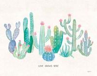 Bohemian Cactus I Love Fine-Art Print