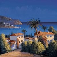 Mediterranean Morning Shadows I Fine-Art Print