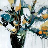 Blooms in Shamrock Grey Fine-Art Print