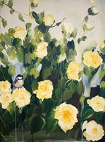 Bird on Roses Fine-Art Print