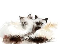 Cat Cuddles Fine-Art Print