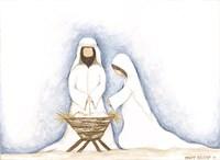 Jesus, Mary, Joseph Fine-Art Print
