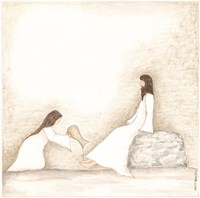 Woman Anoints Jesus with Perfume Fine-Art Print