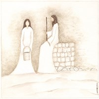 Jesus Talks with Woman at Well Fine-Art Print