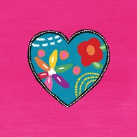Pink Painted Heart Fine-Art Print