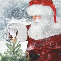 Santa Tree Star Fine-Art Print