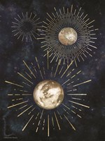 Gold Celestial Rays IV Fine-Art Print