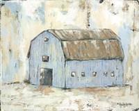 Blue Barnyard Fine-Art Print