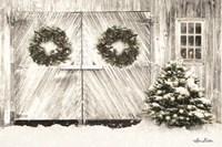 Christmas Barn Doors Fine-Art Print