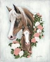 Floral Ponies Fine-Art Print