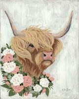 Floral Highlander Cow Fine-Art Print