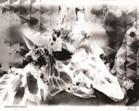 Modern Black & White Giraffe Fine-Art Print