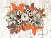 White Pumpkin Swag Fine-Art Print