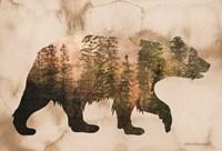 Brown Woods Bear Silhouette Fine-Art Print