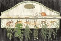 Herbs on Pegs Black Fine-Art Print
