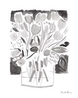 Lemon Gray Tulips I Fine-Art Print
