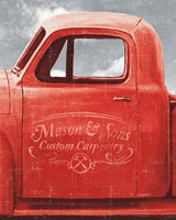 Lets Go for a Ride II Red Truck Fine-Art Print
