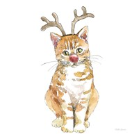 Christmas Kitties III Square Fine-Art Print