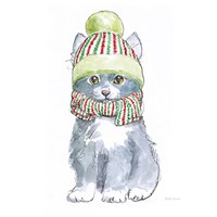 Christmas Kitties II Square Fine-Art Print