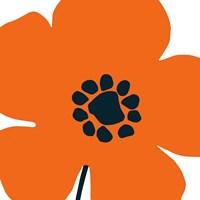 Pop Art Floral I Orange Fine-Art Print