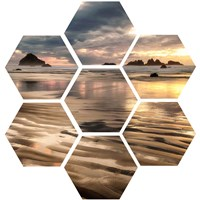 Pacific Low Tide (hexagon) Fine-Art Print