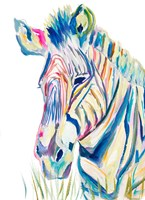 Colorful Zebra Fine-Art Print