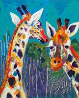 Colorful Giraffes Fine-Art Print