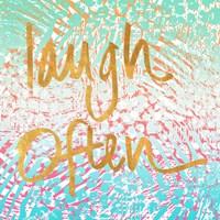 Laugh Often Neon Fine-Art Print