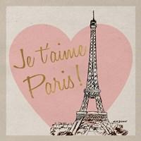 Je t'aime Paris! Fine-Art Print