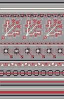 Nordic Cross Stitch Gray Fine-Art Print