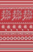 Nordic Cross Stitch Red Fine-Art Print