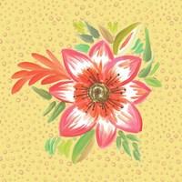 Bright Flower on Dots Fine-Art Print