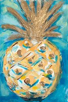Blue Gold Pineapple Fine-Art Print