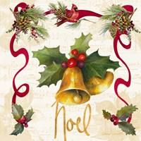 Christmas Poinsettia Ribbon III Fine-Art Print