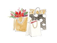 Holiday Shopping Bags I Fine-Art Print